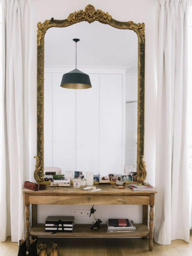 optimiser lumiere entree exemple grand miroir ancien