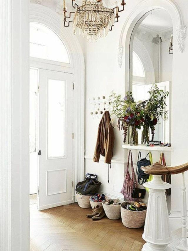 optimiser lumiere entree porte vitrée blanche