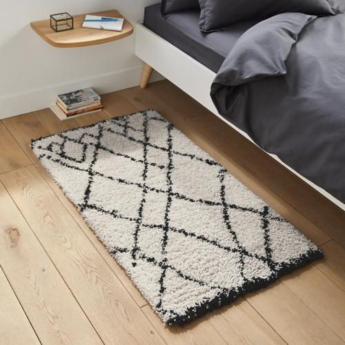 ou trouver deco blanche chambre descente de lit tapis berbère