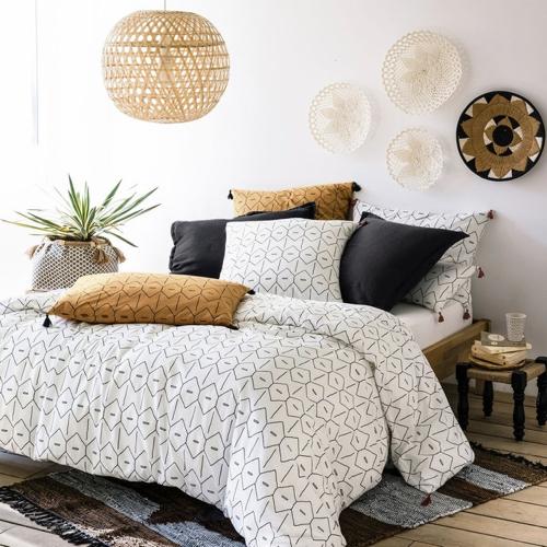 ou trouver deco blanche chambre parure de lit tendance