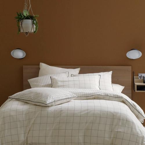 ou trouver deco blanche chambre linge de lit motif discret