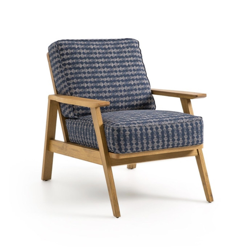 ou trouver fauteuil annee 50 bleu motif