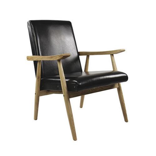 ou trouver fauteuil annee 50 cuir noir
