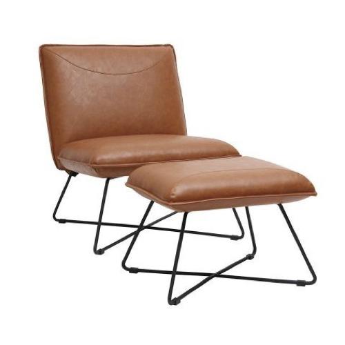 ou trouver fauteuil vintage cuir avec repose pied