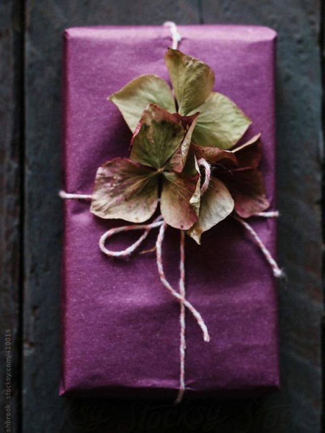 papier cadeau deco naturelle fleurs séchées slow deco