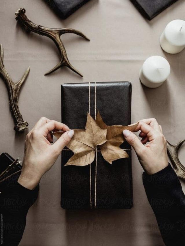 papier cadeau deco naturelle slow deco feuille arbre