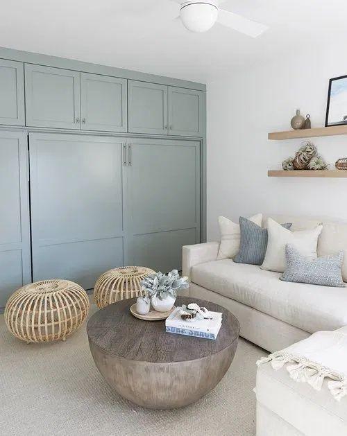 salon blanc style bord de mer exemple peinture