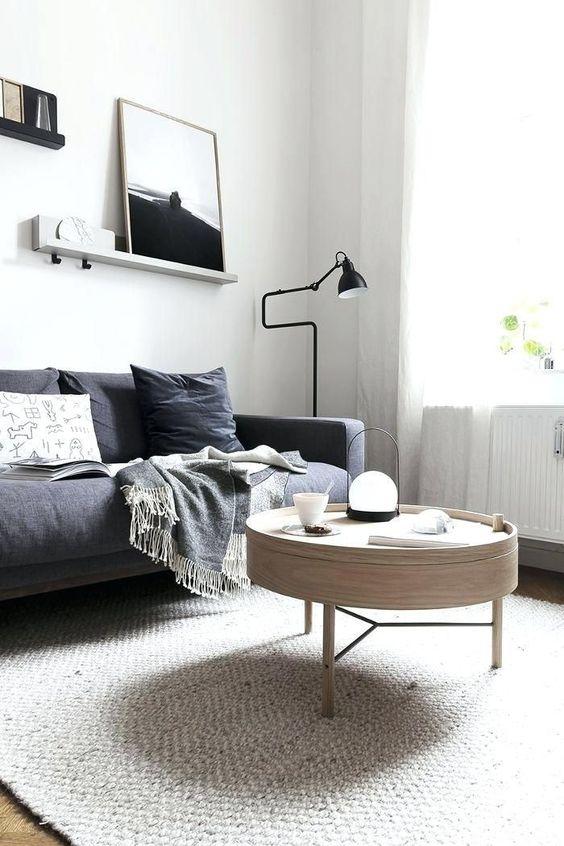 salon blanc style nordique exemple gris sombre