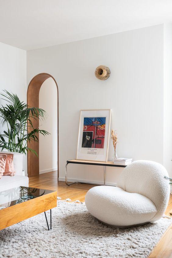 salon blanc style riviera exemple fauteuil design