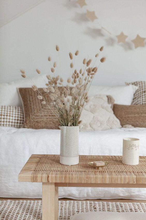 salon blanc style slow exemple coussin beige