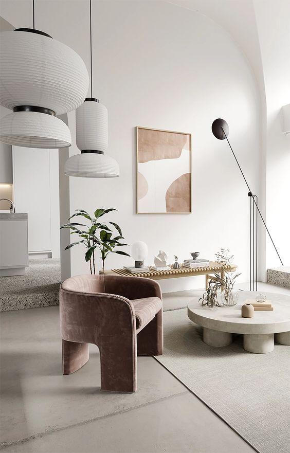salon blanc style slow exemple nuance couleurs