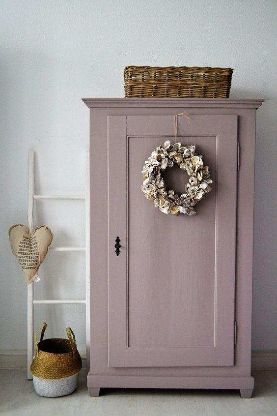style classique chic armoire parisienne rose poudré