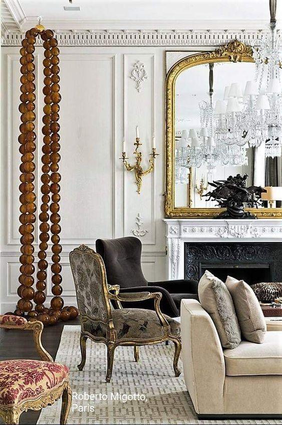 style classique chic detail deco salon