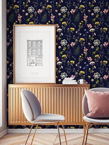 style classique papier peint fleur radiateur