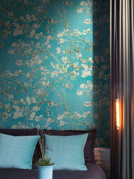 style classique papier peint fleur