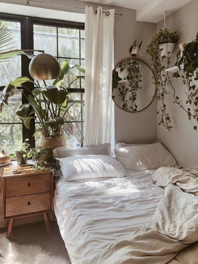 style nature petite chambre moderne