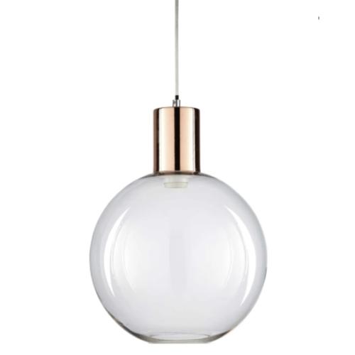 accessoire deco pas cher salle a manger suspension boule en verre moderne