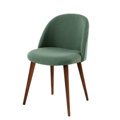 accessoire deco pas cher salle a manger chaise en velours vert