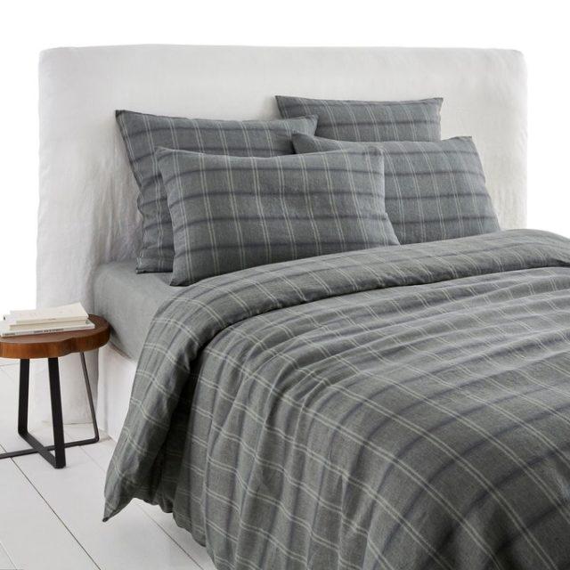 chambre cosy parure lit carreaux pas cher