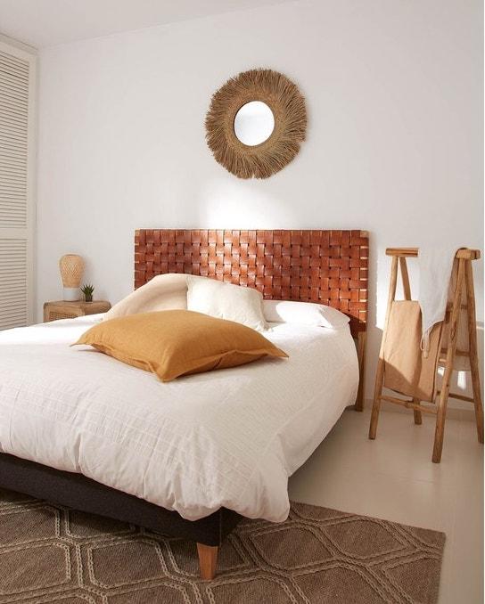 chambre cosy tete de lit cuir