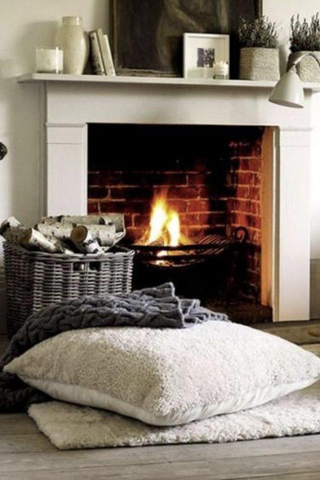 comment creer salon cocooning cheminée feu de bois