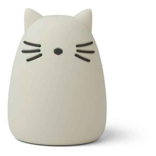 deco moderne et neutre chambre bebe veilleuse petit chat