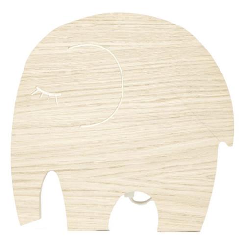 deco moderne et neutre chambre bebe applique murale éléphant bois