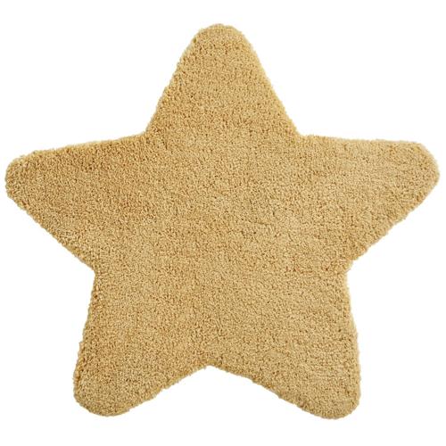 deco neutre bebe chambre pas cher tapis étoile couleur jaune ocre