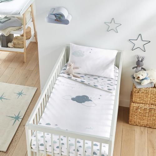deco neutre bebe chambre pas cher parure de lit nuage