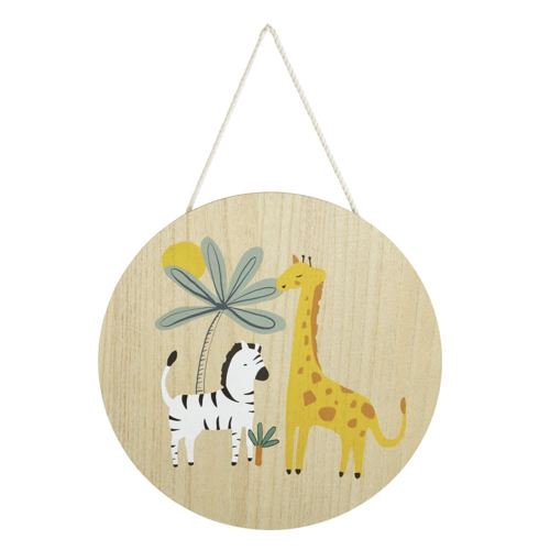 deco neutre bebe chambre pas cher décoration murale illustration safari