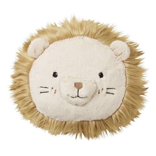 deco neutre bebe chambre pas cher coussin ludique tête de lion