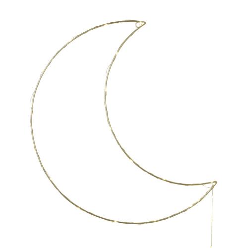 deco neutre bebe chambre pas cher décoration murale lune lumineuse guirlande