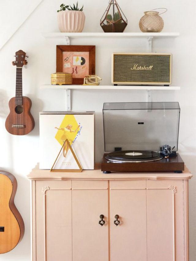 decorer avec guitare exemple ukulélé deco moderne et fraiche