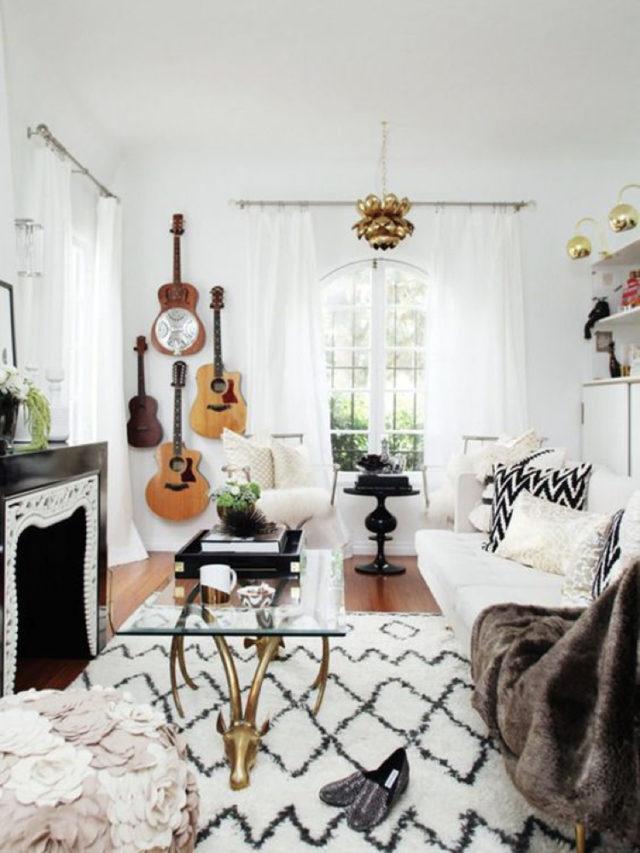 decorer avec guitare exemple intérieur moderne et chaleureux