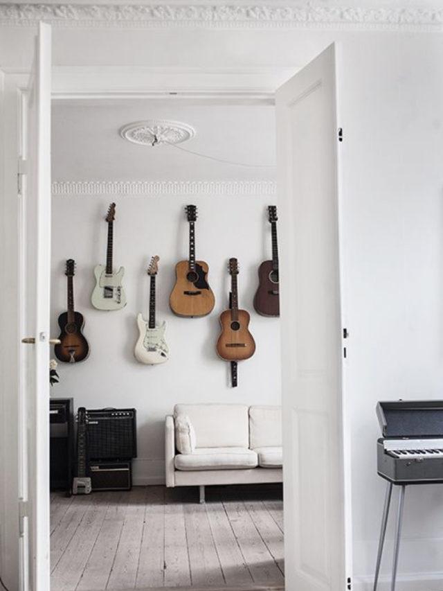 decorer avec guitare exemple collection décoration murale