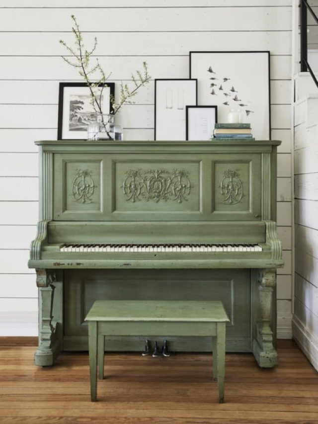 decorer avec piano exemple vert olive