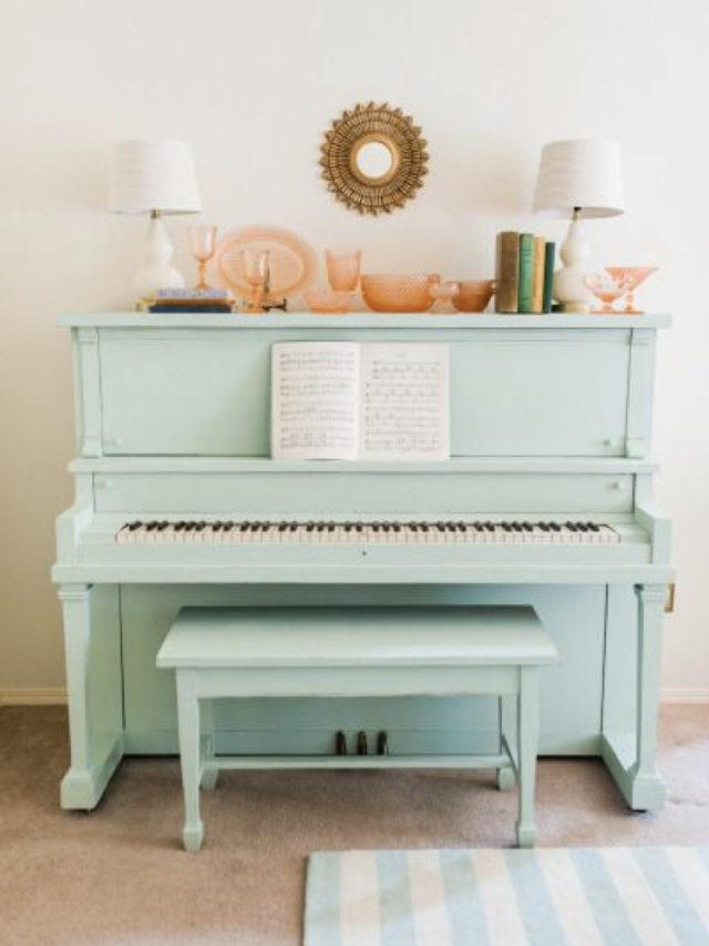 decorer avec piano exemple vert d'eau peinture