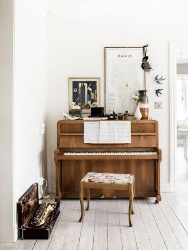 decorer avec piano exemple bois blanc idee decoration