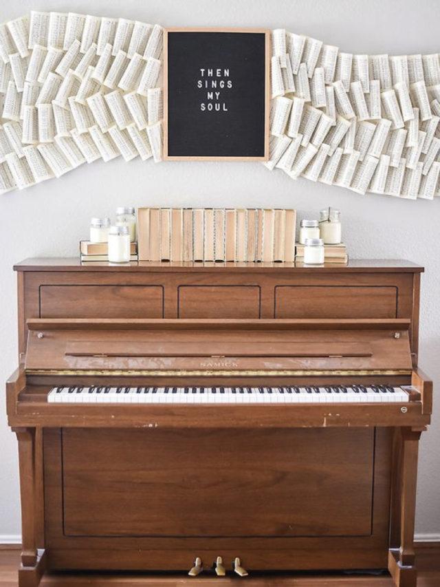 decorer avec piano exemple décoration murale partition