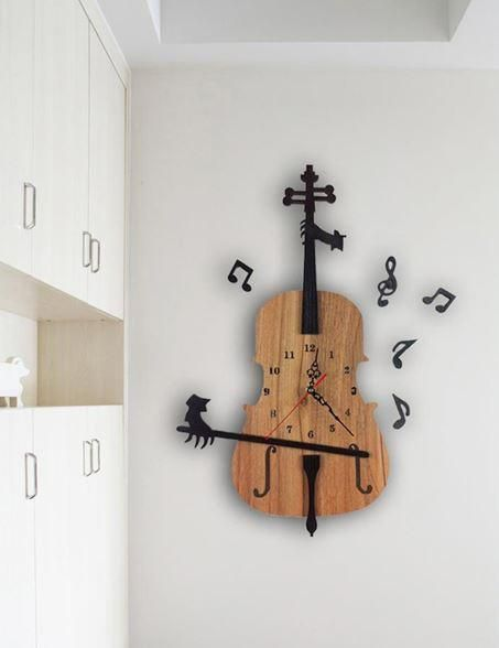 decorer instrument classique exemple horloge murale