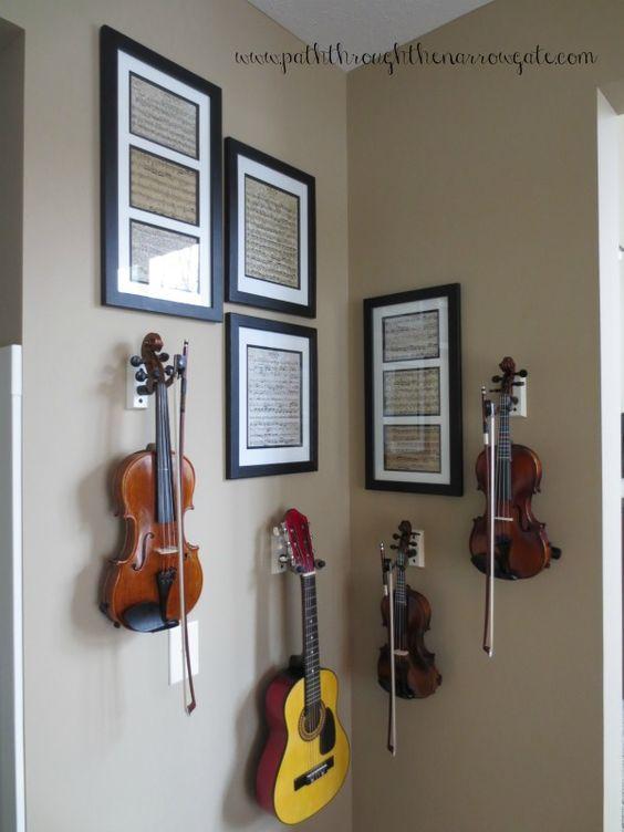 decorer instrument classique exemple violon déco murale