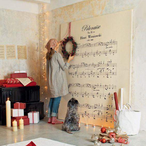 decorer passion musique exemple partition papier peint
