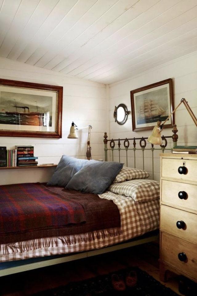 idee a copier deco chambre cosy parure de lit carreaux confort plaid tartan