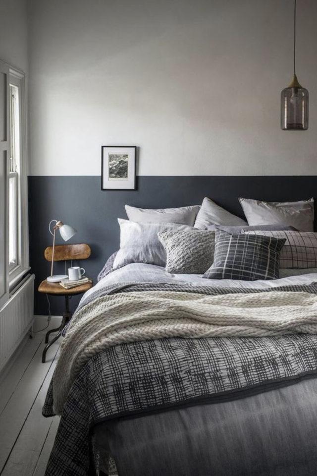 idee a copier deco chambre cosy parure de lit camaïeux de gris douceur cosy slow