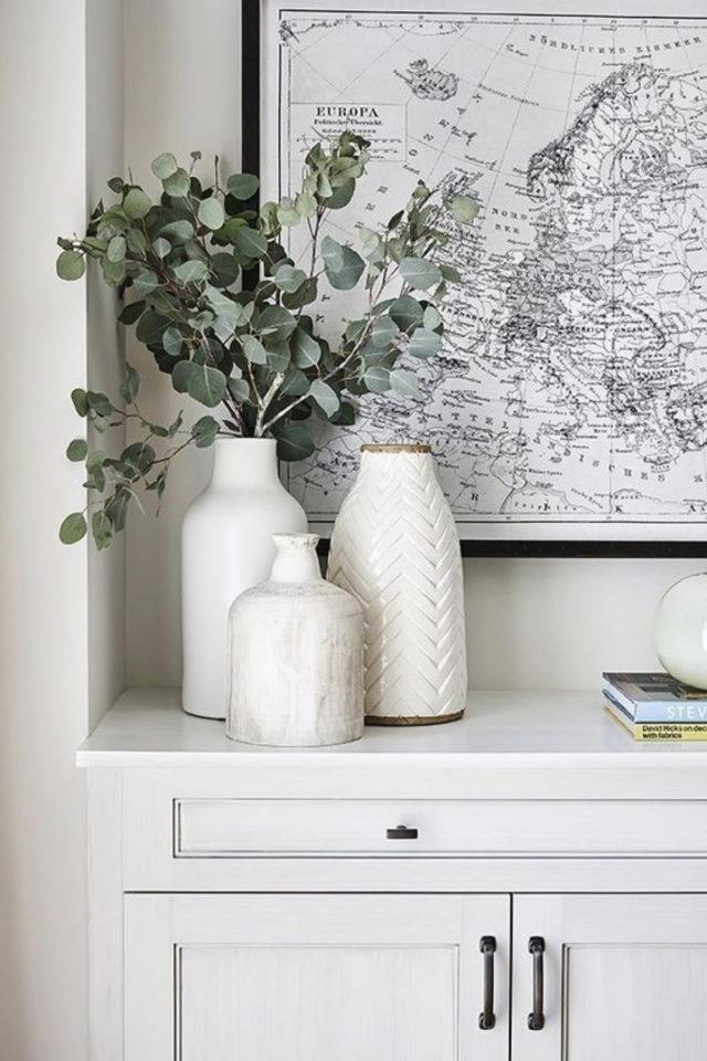 joli vase decoration exemple vase blanc moderne eucalyptus