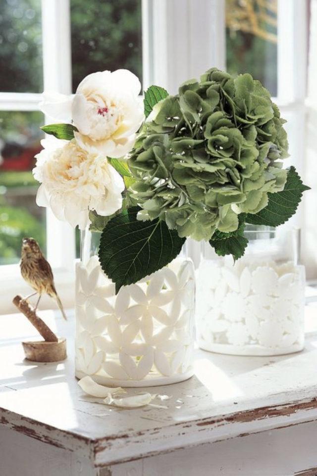 joli vase decoration exemple pour bouquet d'enfant fait main