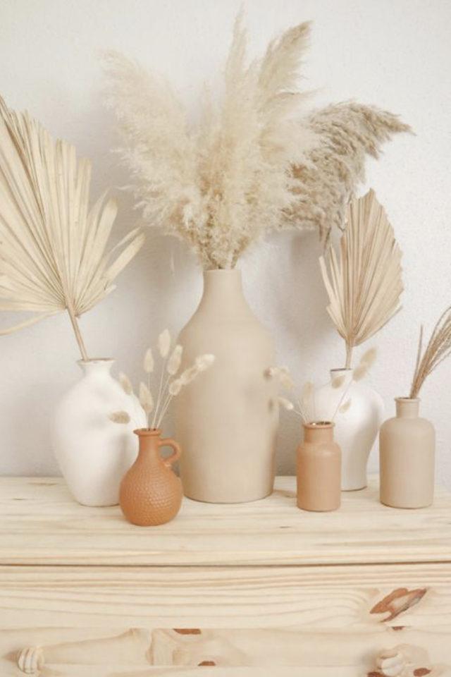joli vase decoration exemple slow decoration vase couleur naturelle fleur séchée