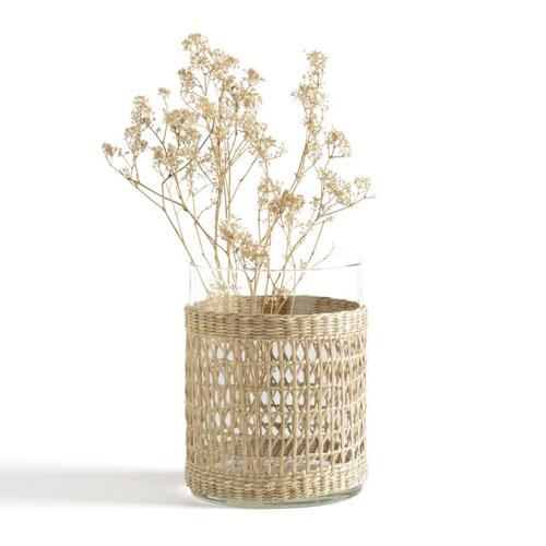 ou trouver joli vase quotidien verre et fibre naturelle