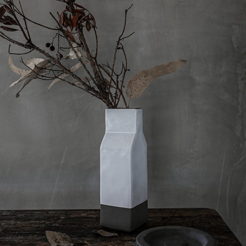 ou trouver joli vase quotidien brique de lait