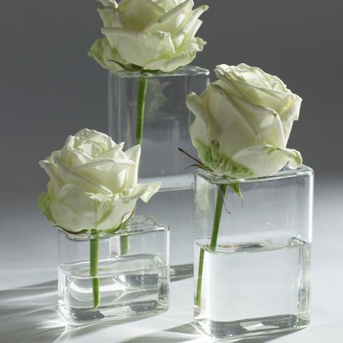 ou trouver petit vase bouquet enfant soliflore carré en verre